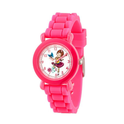 Disney Fancy Nancy Girls Pink Strap Watch-Wds000592