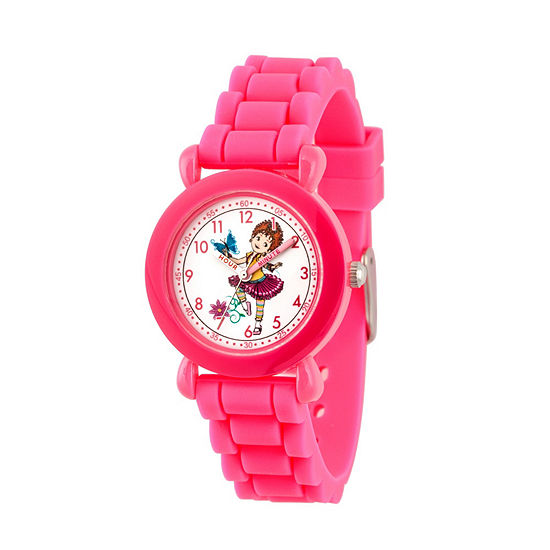 Disney Fancy Nancy Fancy Nancy Girls Pink Strap Watch-Wds000592
