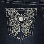 Love Indigo Double Wing Pocket Jean - Tall