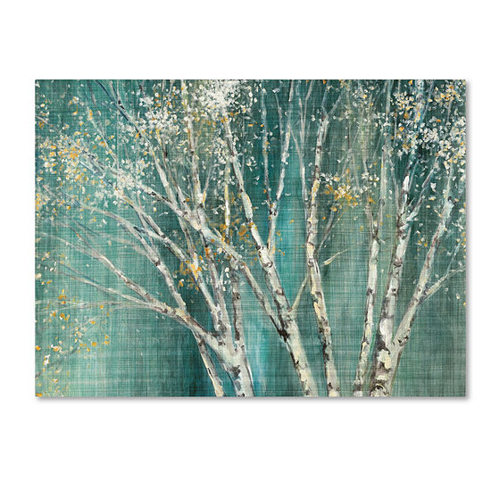 Trademark Fine Art Julia Purinton Blue Birch Giclee Canvas Art