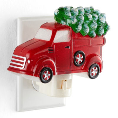 North Pole Trading Co. Truck With Tree Night Light