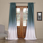 Exclusive Fabrics & Furnishing Ombre Faux Linen Rod-Pocket Curtain Panel