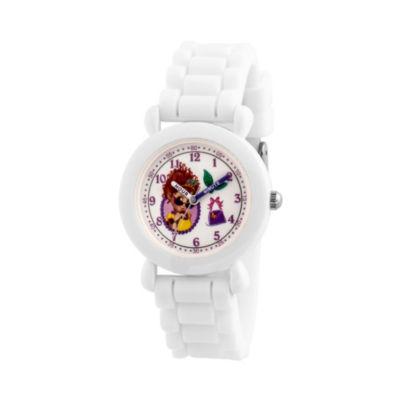 Disney Fancy Nancy Girls White Strap Watch-Wds000595