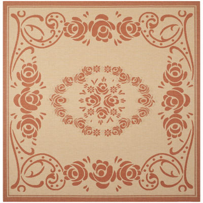 Safavieh Courtyard Collection Kalya Floral Indoor/Outdoor Square Area Rug