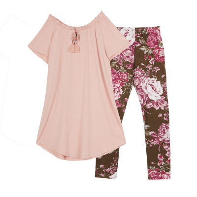 by&by girl 2-pc. Legging Set-Big Kid Girls