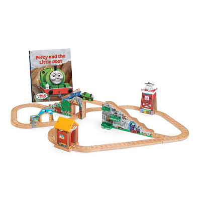 Fisher Price Thomas & Friends Wooden Railway Percyand the Little Goat Set