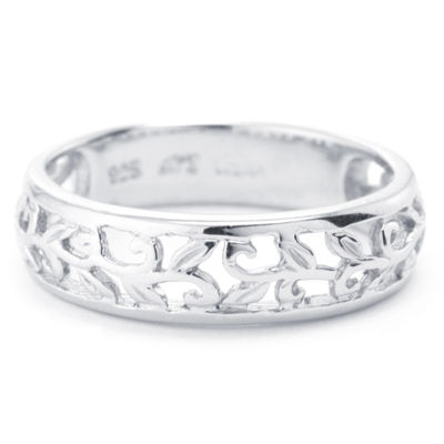 Silver Treasures Womens 5mm Sterling Silver Band