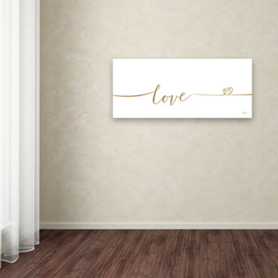 Trademark Fine Art Veronique Charron Underlined Thoughts I Giclee Canvas Art
