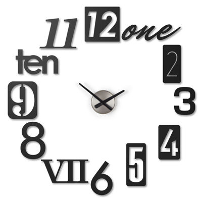 Umbra Numbra Wall Clock Black Wall Clock-118430-040