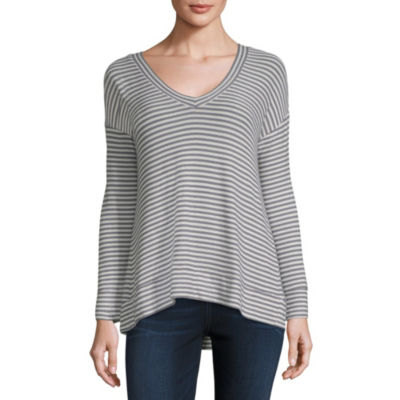a.n.a-Womens V Neck Long Sleeve T-Shirt