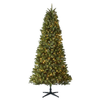 North Pole Trading Co. 7 1/2 Foot Tuscany Pre-Lit Multi-Function Lights Christmas Tree