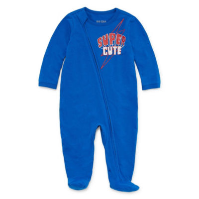 "Okie Dokie ""Super Cute"" Long Sleeve Full Zip Sleep and Play with Cape - Baby Boy NB-9M"