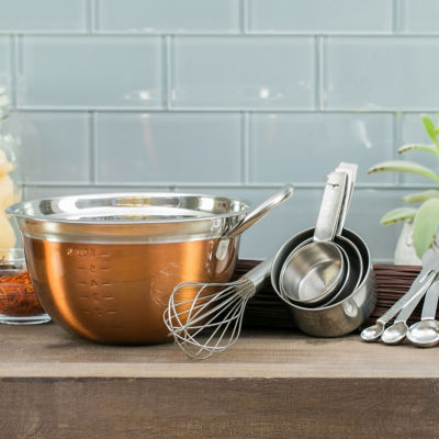 Basic Essentials Basic Essential Stainless Steel Colors Measuring Cup+Spoons