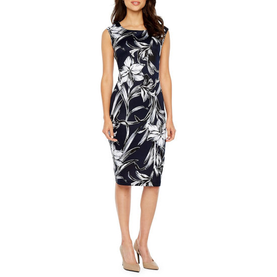 Connected Apparel Sleeveless Sheath Dress