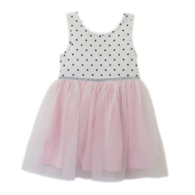 Lilt Sleeveless Polka Dot A-Line Dress - Baby Girls