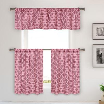 Duck River Hillsborough 3-Piece Kitchen Curtain Set