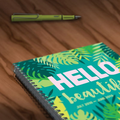 July 2018 - June 2019  Hello Large Weekly Monthly Planner