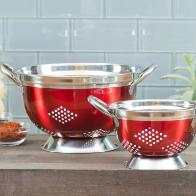 Basic Essentials Basic Essential Stainless Steel Colors 2-pc. Colander