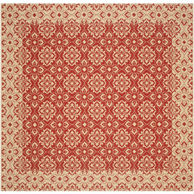 Safavieh Courtyard Collection Spots Oriental Indoor/Outdoor Square Area Rug