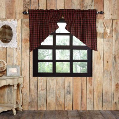 Rustic & Lodge Window Cumberland Prairie Swag Pair