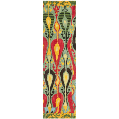 Safavieh Ikat Collection Dennis Geometric Runner Rug