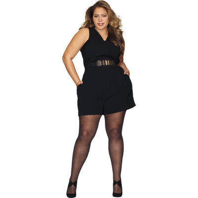 Hanes Curves Black Out Tights