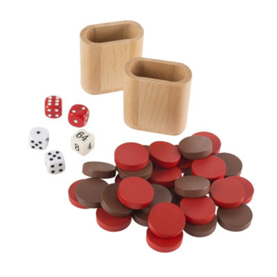 Hey! Play! Wooden Backgammon Board Game Set