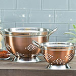 Basic Essential Stainless Steel Colors 2-pc. Colander