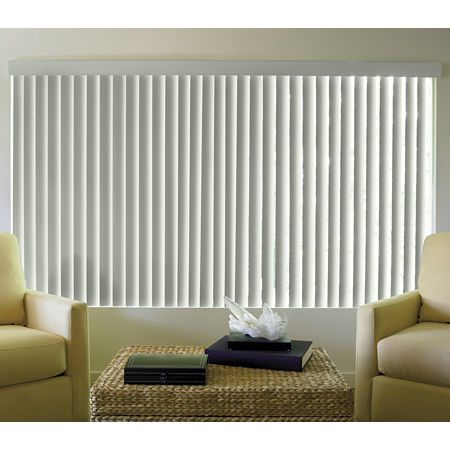 JCPenney Home Linen-Look Vinyl Vertical Blinds, One Size , White