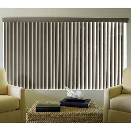 JCPenney Home Linen-Look Vinyl Vertical Blinds, One Size , Gray