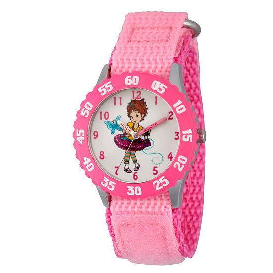 Disney Fancy Nancy Fancy Nancy Girls Pink Strap Watch-Wds000596