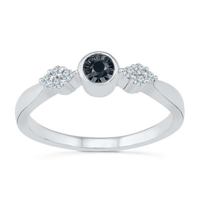 Promise My Love Womens 1/8 CT. T.W. Multi Color Diamond Sterling Silver Promise Ring