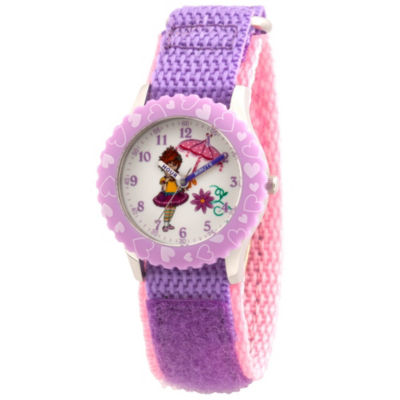 Disney Fancy Nancy Girls Purple Strap Watch-Wds000597