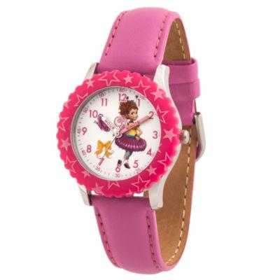 Disney Fancy Nancy Girls Pink Strap Watch-Wds000598