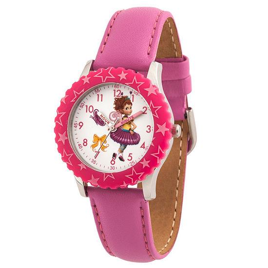 Disney Fancy Nancy Fancy Nancy Girls Pink Strap Watch-Wds000598