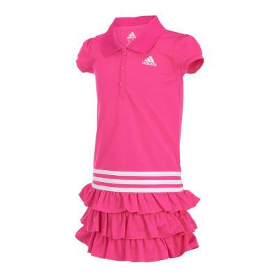 adidas Short Sleeve Cap Sleeve Dress Set - Toddler Girls