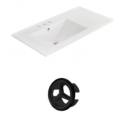 35.5-in. W 3H4-in. Ceramic Top Set In White Color