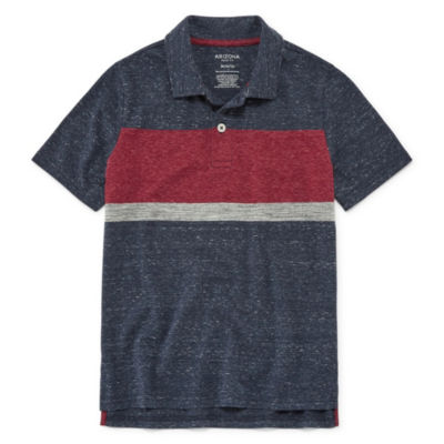 Arizona Short Sleeve Knit Polo Shirt Boys 4-20
