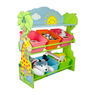 Fantasy Fields Sunny Safari Toy Organizer with Storage Bins