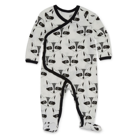 Okie Dokie Raccoon Long Sleeve Sleep and Play - Baby Boy NB-24M
