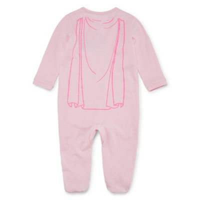 "Okie Dokie ""Super Cute"" Long Sleeve Full-Zip Sleep And Play - Baby Girl NB-9M"