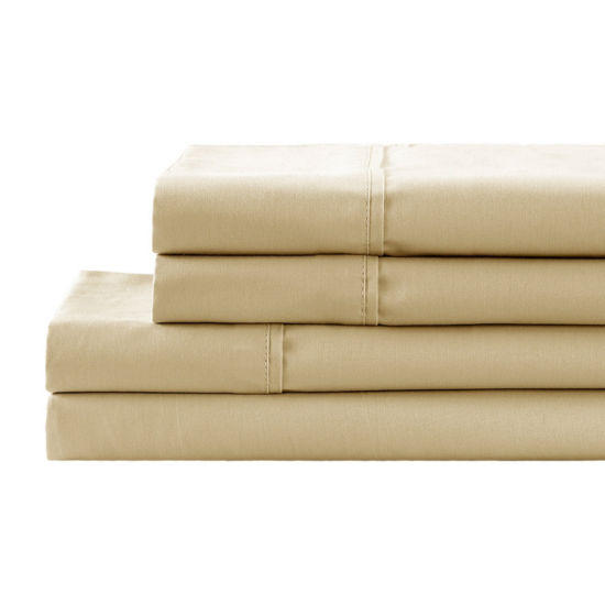 California Design Den 300TC 100% Cotton Percale 4PC Sheet Set