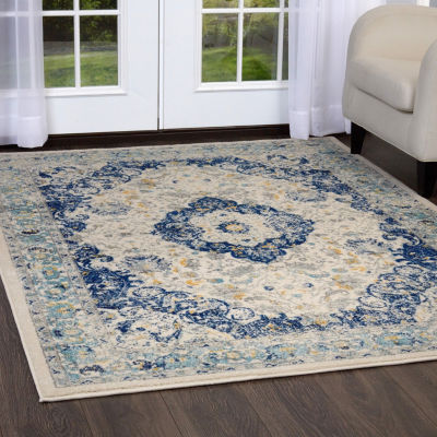 Home Dynamix Vintage Channing Distressed Square Area Rug