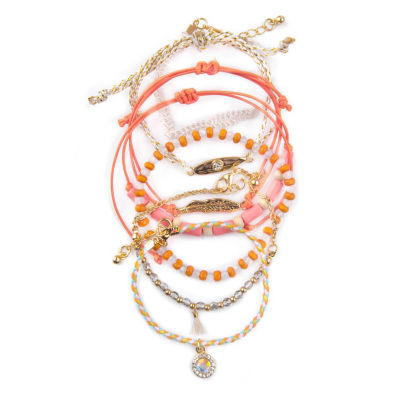 Arizona Womens 7-pc. Clear Bracelet Set