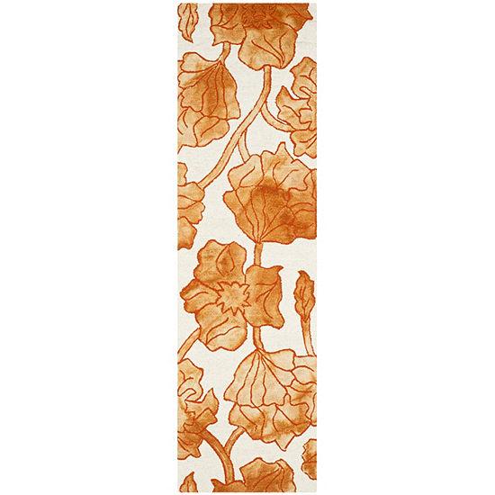 Safavieh Dip Dye Collection Erksine Floral Runner Rug
