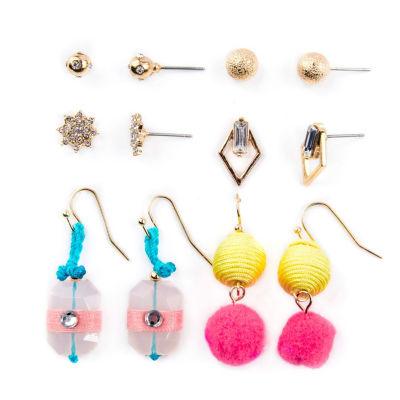 Arizona 6 Pair Clear Earring Sets
