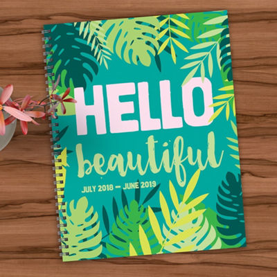 Tf Publishing July 2018 - June 2019 Hello Large Weekly Monthly Planner