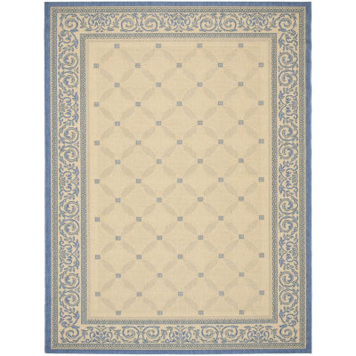 Safavieh Courtyard Collection Frona Oriental Indoor/Outdoor Square Area Rug