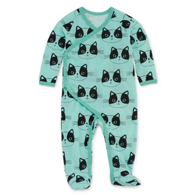 Okie Dokie Cat Long Sleeve Sleep And Play - Baby Girl NB-24M