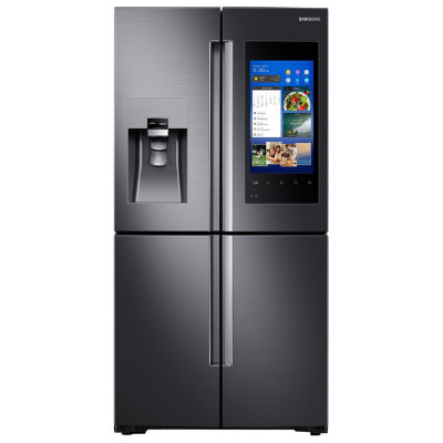 Samsung ENERGY STAR® Smart Wi-Fi Enabled 22 cu. ft. Counter Depth Family Hub™ 4-Door Flex French-Door Refrigerator
